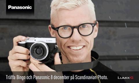 Träffa Bingo Rimér och Panasonic hos Scandinavian Photo Malmö 8 december