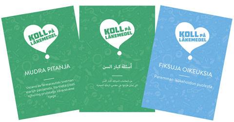 Broschyrer på olika språk för att nå fler äldre läkemedelsanvändare