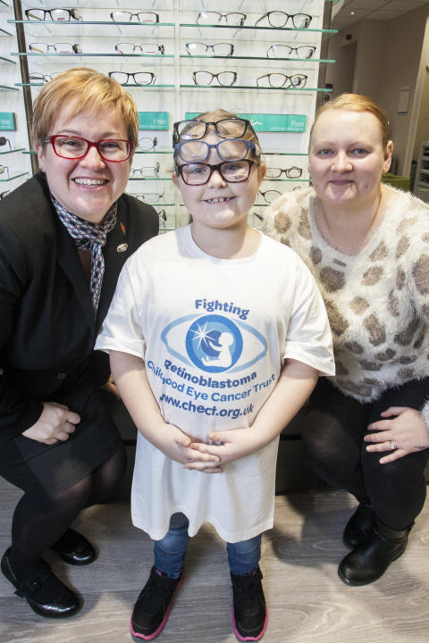 Coventry eye cancer survivor unveils refurbished Vision Express Nuneaton store