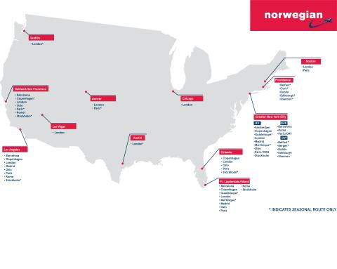 Norwegian Increases Florida Foothold; Adds Three New European Routes