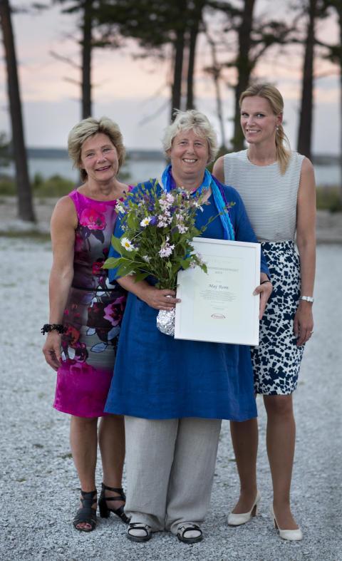 Maj Rom vid Sveriges Kommuner och Landsting får Äldreomsorgspriset 2013