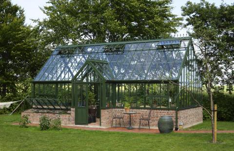 32 kvadratmeter växthus från Hartley Botanic