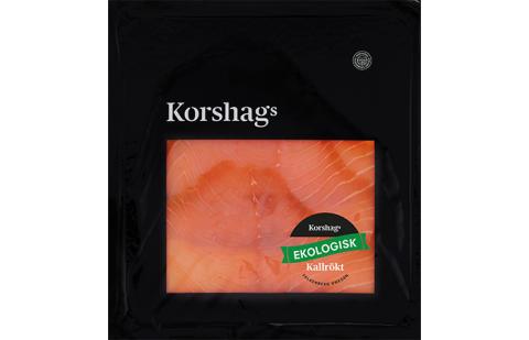 Korshags - EKO Kallrökt laxfilé, skivad 100 g