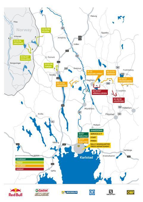 Karta Rally Sweden 2016