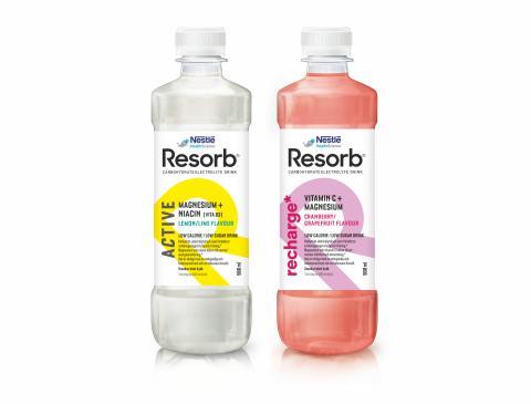Nestlé lanserar funktionella drycker - Resorb Recharge och Resorb Active
