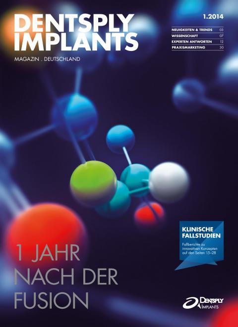 Titelseite der ersten Ausgabe des neuen DENTSPLY Implants Magazin Deutschland