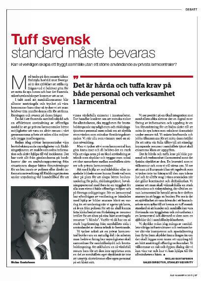 Debatt: Tuff svensk standard måste bevaras