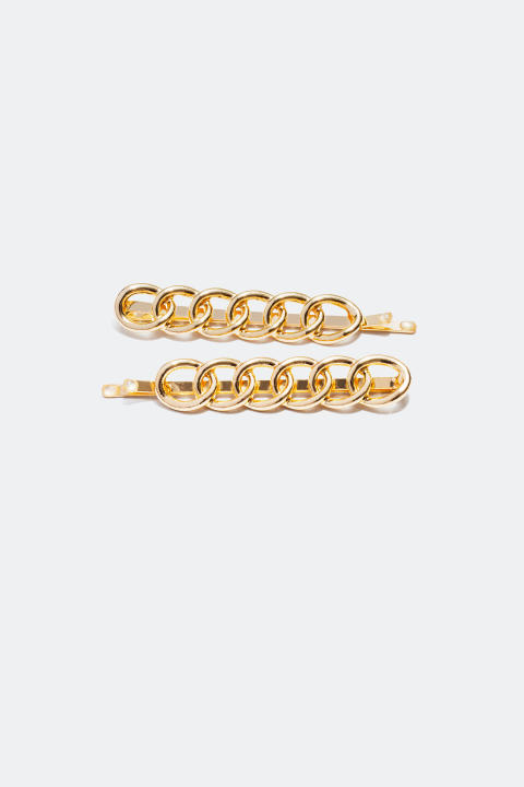 Hair Clips with chain detail (2-pack)
