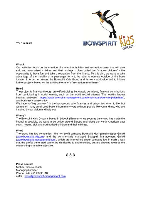 Bowspirit Kids Group - Told in brief