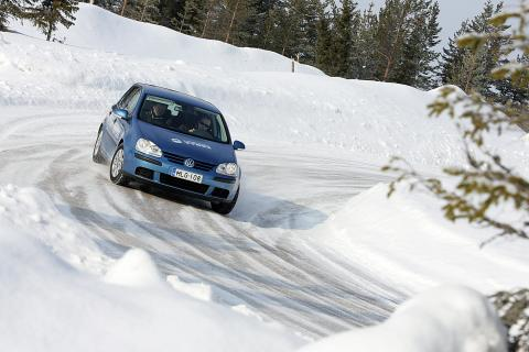 Driving on an Ice Track
