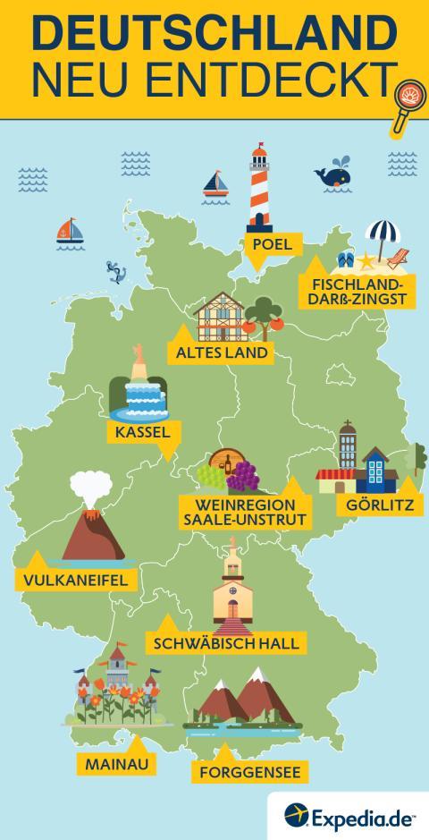 Deutschland neu entdeckt - Infografik Karte