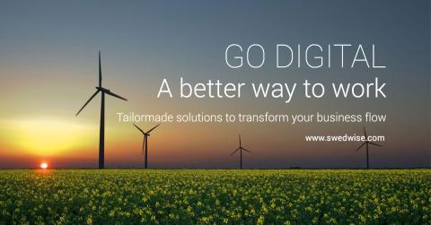 Swedwise lanserar ny webb med lösningar för digitalisering av verksamhets och affärsprocesser.