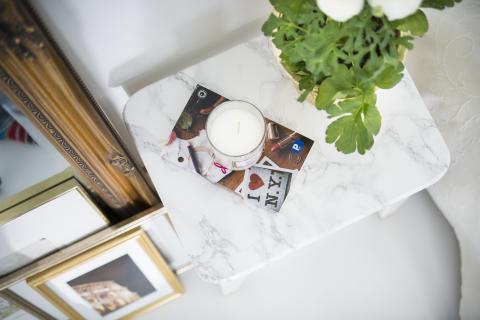 DIY, Skapa en snygg marmoreffekt på en pall