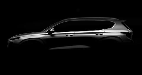 Hyundai släpper första teaserbilden på fjärde generationen Santa Fe