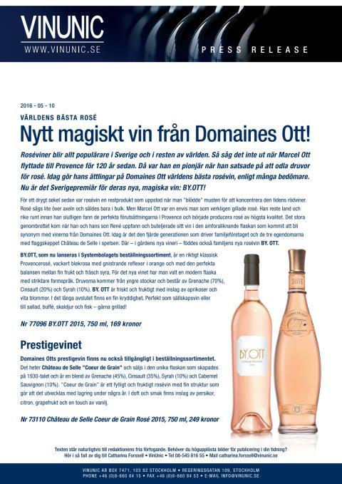 Nytt vin från Domaines Ott!