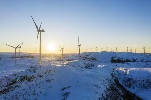 Norges største vindpark i full produksjon