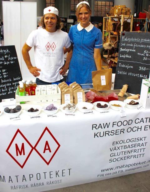 Matapoteket - ekologisk rawfood på Andningens Dag