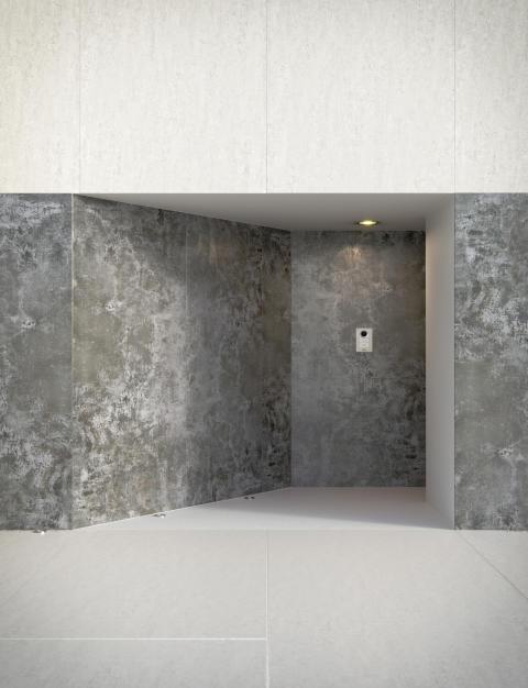 Dekton Orix (grisaceo)_Dekton Blanc Concrete (claro)_facade (1)