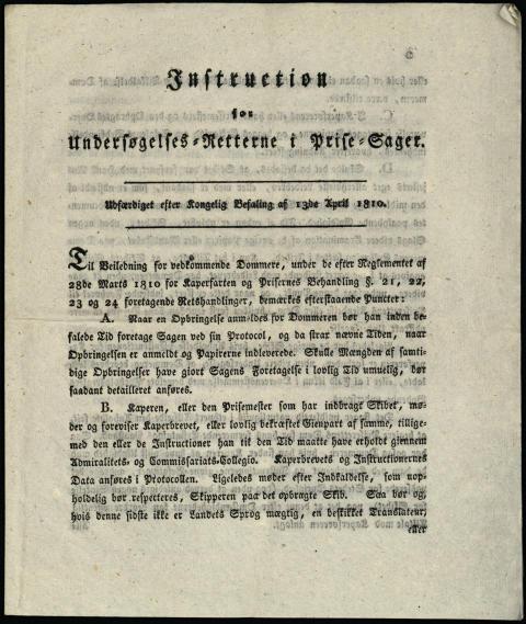 1807-1814 Trondheim priserett