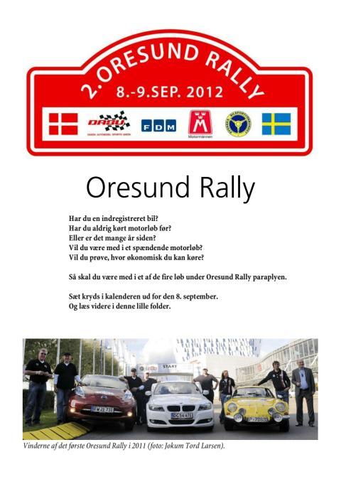 Oresund Rally 2012
