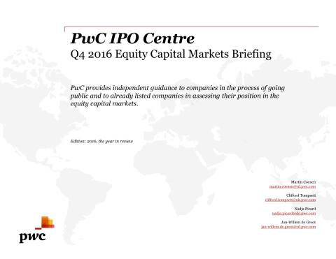 PwC's IPO Watch 2016