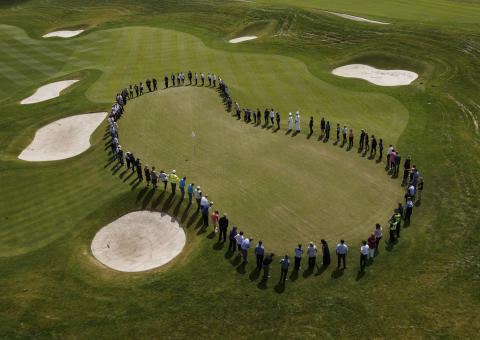 100 balls, 100 strokes, 100 people and 100 Days To Go until The 2014 Ryder Cup