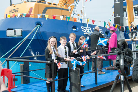 School children at the launch of the Selkie