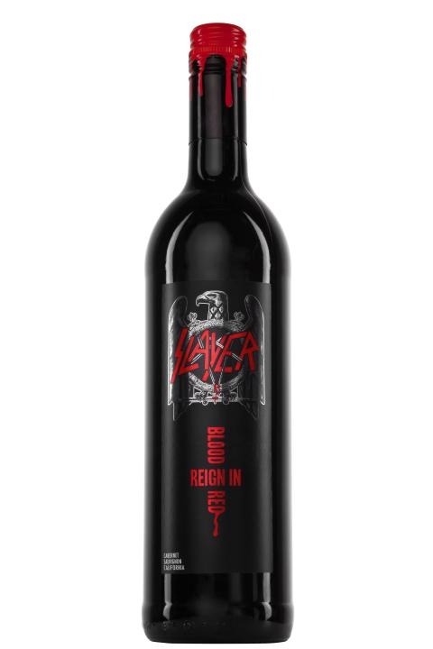 Slayer Reign In Blood with blood on cork