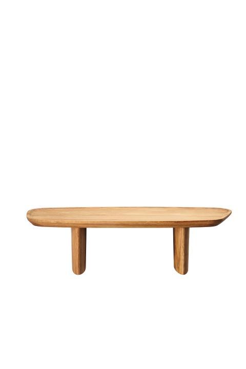 R_Junto_Wooden tray on foot 40x18 cm side