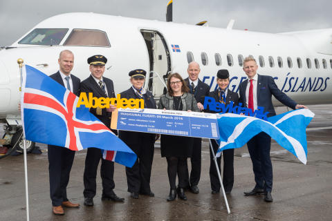 New Icelandair service from Iceland to Aberdeen takes to the skies