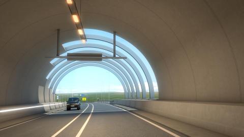 Undersjøiske tunneler i 3D på Færøyene