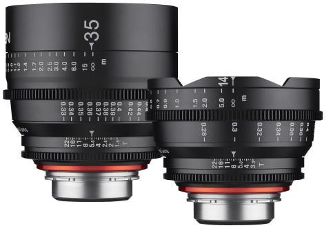 Samyang XEEN 35mm 14mm gruppebilde