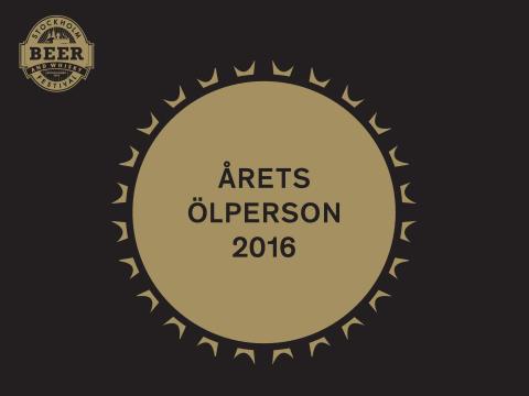 Stockholm Beer & Whisky Festival utser Årets ölperson