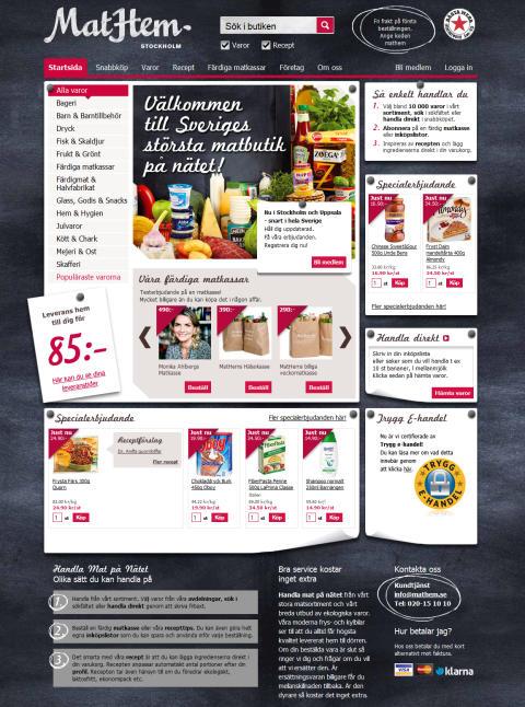 Mathem.se - Sveriges 6:e bästa sajt och bästa matbutik på nätet