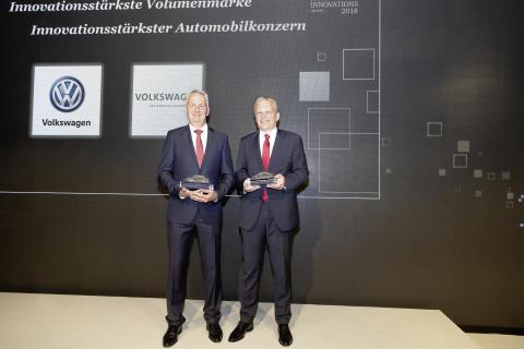 AutomotiveINNOVATIONS Award 2018: Volkswagen kåret som det mest innovative høj-volumen bilmærke