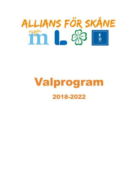Valprogram 2018-2022