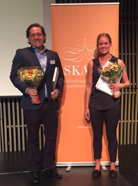 SKAPA-priser till UIC-entreprenörerna Martin Ryen och Evelina Vågesjö