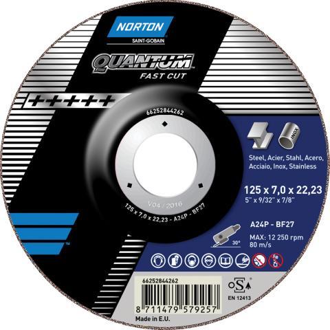 Norton Quantum - Grinding wheel Fast Cut