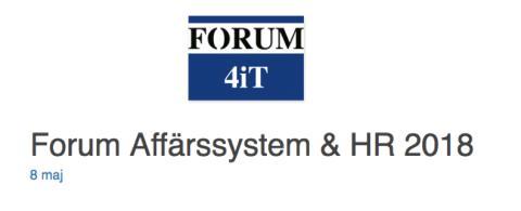 Unit4 och Stockholms stad finalist till priset för Årets Affärssystemprojekt av Forum4iT