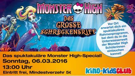 Monster High: Das große Schreckensriff. Mattel und Kinopolis präsentieren exklusives Kinoevent in 14 deutschen Städten!