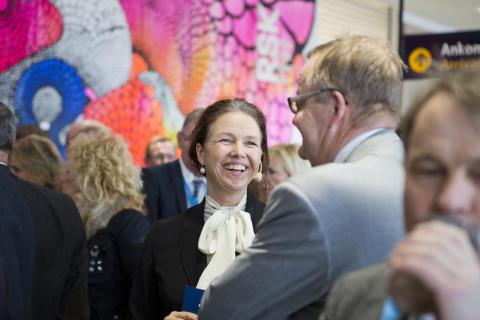 Torborg Chetkovich inviger ny utrikes avgångshall Göteborg Landvetter Airport