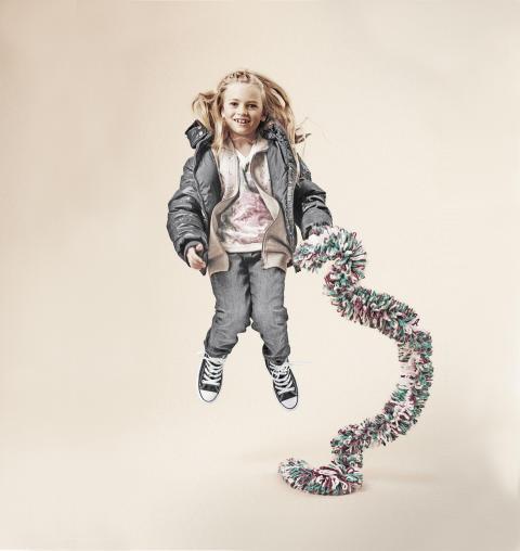 Barnens modevisning på NK i Stockholm.