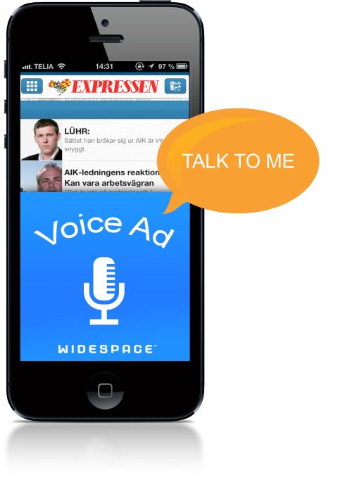 Widespace lanserar världens första röststyrda annons för mobilen, baserat på Nuances teknik