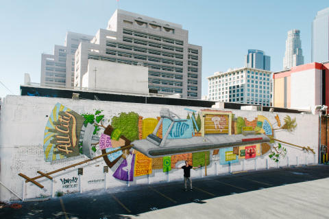 The Big Chase Mural LA