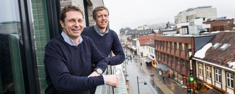Geir Kristiansen, daglig leder og Espen Ringøen, driftsansvarlig bygg i Forvaltningspartner AS.