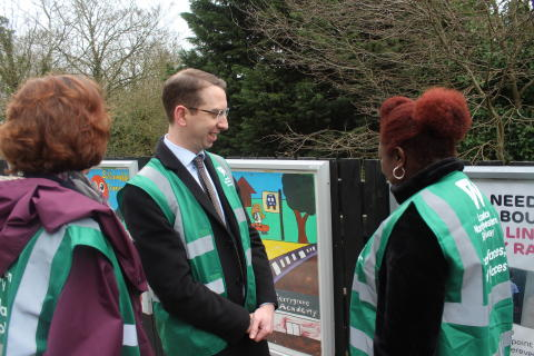 Mayor of Watford at Garston station - March 2019