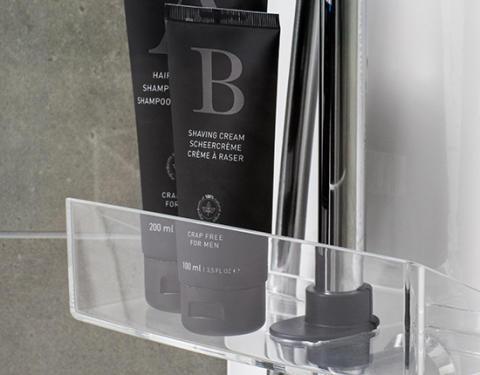 IDO Showerama 10-5 -suihkukaapin shampoo- ja saippuahylly