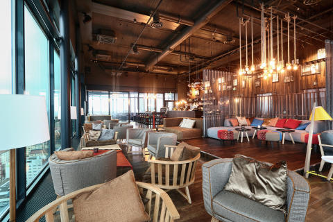 Rooftop bar at Hotel Torni Tampere, Finland, by Stylt