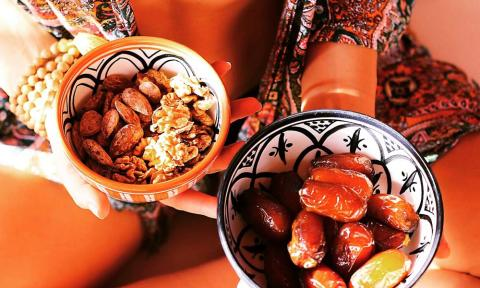 Fresh nuts and dates_NOSADE Yoga Retreats Marrakech