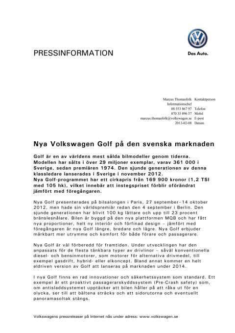 Fakta om Golf i Sverige